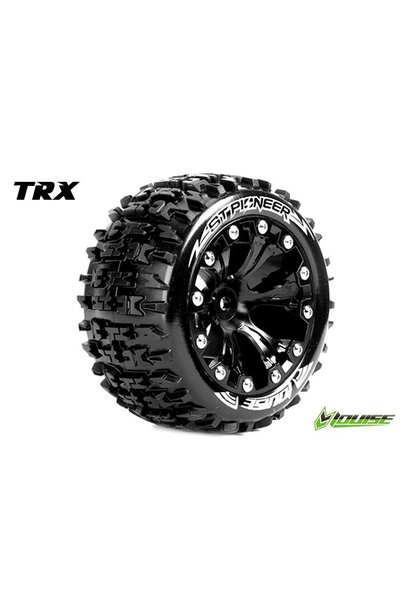 Louise RC - ST-PIONEER - 1-10 Stadium Truck Tire Set - Mounted - Soft - Black 2.8 Rims - 1/2-Offset - Hex 12mm - L-T3227SBH