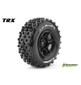 Louise RC Louise RC - SC-ROCK - 1-10 Short Course Tire Set - Mounted - Soft - Black Rims - Hex 12mm - SLASH 2WD Rear - SLASH 4X4 F/R - L-T3229SBTR