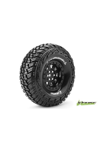 Louise RC - CR-GRIFFIN - 1-10 Crawler Tire Set - Mounted - Super Soft - Black 1.9 Rims - Hex 12mm - L-T3230VB