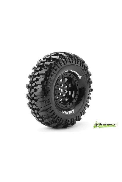 Louise RC - CR-CHAMP - 1-10 Crawler Tire Set - Mounted - Super Soft - Black 1.9 Rims - Hex 12mm - L-T3231VB