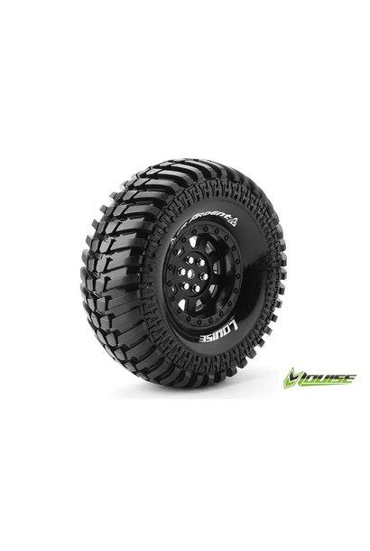Louise RC - CR-ARDENT - 1-10 Crawler Tire Set - Mounted - Super Soft - Black 1.9 Rims - Hex 12mm - L-T3232VB