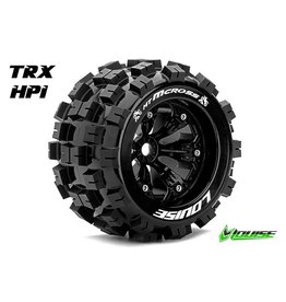 Louise RC Louise RC - MT-MCROSS - 1-8 Monster Truck Tire Set - Mounted - Sport - Black 3.8 Rims - 0-Offset - Hex 17mm - L-T3276B