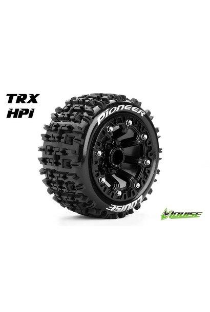 Louise RC - ST-PIONEER - 1-16 Truck Tire Set - Mounted - Sport - Black 2.2 Rims - L-T3278SB