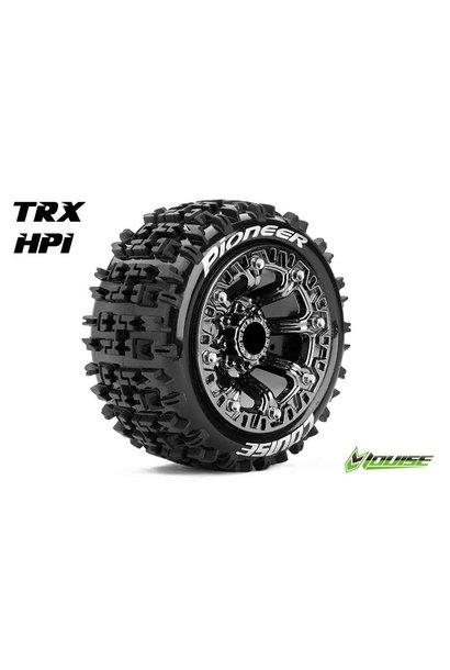 Louise RC - ST-PIONEER - 1-16 Truck Tire Set - Mounted - Sport - Black Chrome 2.2 Rims - L-T3278SBC