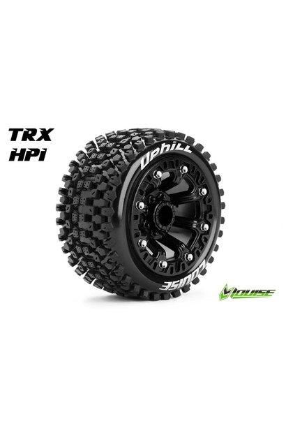Louise RC - ST-UPHILL - 1-16 Truck Tire Set - Mounted - Sport - Black 2.2 Rims - L-T3279SB
