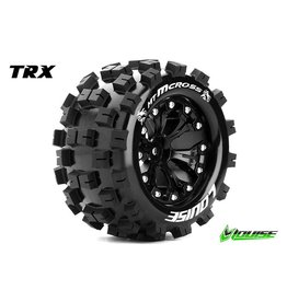 Louise RC Louise RC - MT-MCROSS - 1-10 Monster Truck Tire Set - Mounted - Sport - Black 2.8 Rims - 0-Offset - Hex 12mm - L-T3274SB