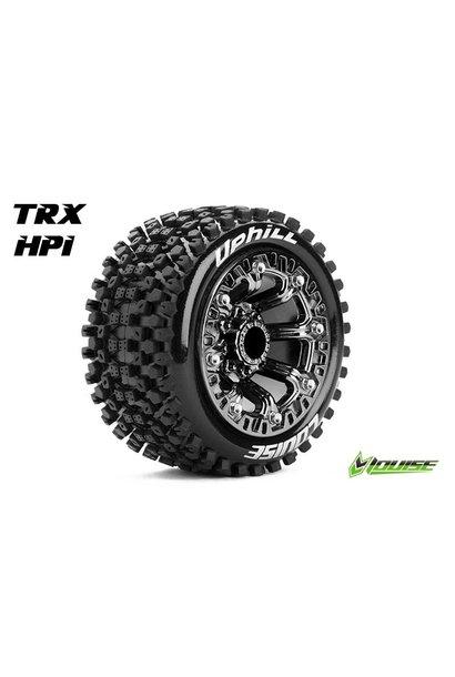 Louise RC - ST-UPHILL - 1-16 Truck Tire Set - Mounted - Sport - Black Chrome 2.2 Rims - L-T3279SBC