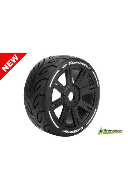 Louise RC - MFT - GT-TARMAC - 1-8 Buggy Tire Set - Mounted - Soft  - Black Spoke Rims - Hex 17mm - L-T3285SB