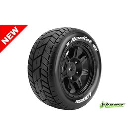 Louise RC Louise RC - MFT - X-ROCKET - X-Maxx Serie Tire Set - Mounted - Sport - Black Rims - Hex 24mm - L-T3295B