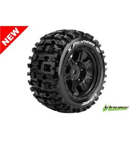 Louise RC Louise RC - MFT - X-PIONEER - X-Maxx Serie Tire Set - Mounted - Sport - Black Rims - Hex 24mm - L-T3296B
