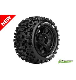 Louise RC Louise RC - MFT - X-UPHILL - X-Maxx Serie Tire Set - Mounted - Sport - Black Rims - Hex 24mm - L-T3297B
