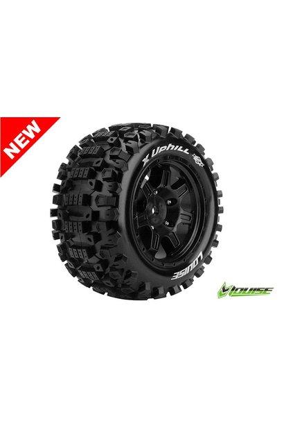 Louise RC - MFT - X-UPHILL - X-Maxx Serie Tire Set - Mounted - Sport - Black Rims - Hex 24mm - L-T3297B