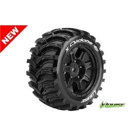 Louise RC Louise RC - MFT - X-CYCLONE - X-Maxx Serie Tire Set - Mounted - Sport - Black Rims - Hex 24mm - L-T3298B