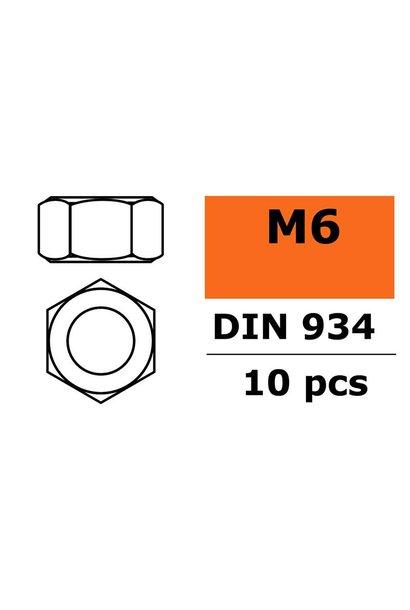 Revtec - Zeskantmoer - M6 - Gegalvaniseerd staal - 10 st
