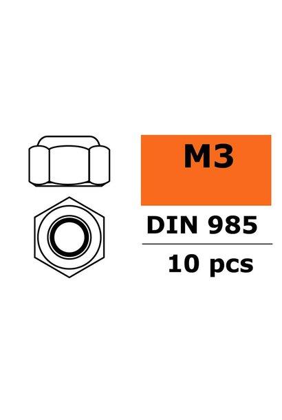 Revtec - Zelfborgende zeskantmoer - M3 - Gegalvaniseerd staal - 10 st