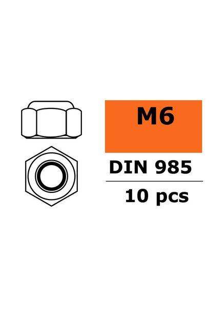 Revtec - Zelfborgende zeskantmoer - M6 - Gegalvaniseerd staal - 10 st