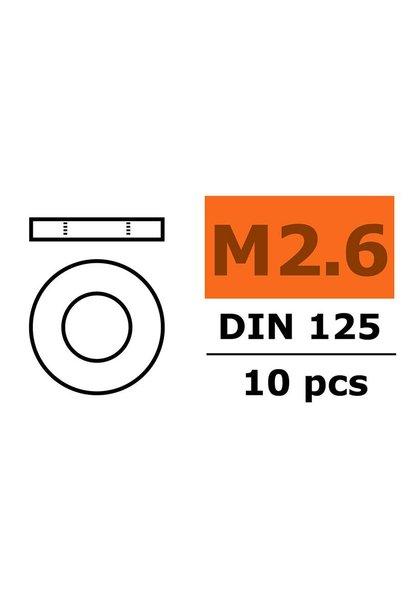 Revtec - Vlakke sluitring - M2,6 - Gegalvaniseerd staal - 10 st