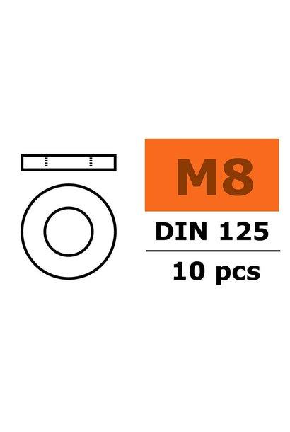Revtec - Vlakke sluitring - M8 - Gegalvaniseerd staal - 10 st