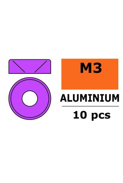 Revtec - Aluminium sluitring - voor M3 Verzonkenkopschroeven - BD=8mm - Paars - 10 st