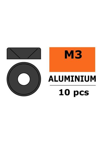 Revtec - Aluminium sluitring - voor M3 Verzonkenkopschroeven - BD=8mm - Gun Metaal - 10 st