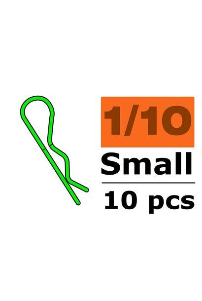 Revtec - Carrosserie clipsen - 45° gebogen - Klein - Groen - 10 st