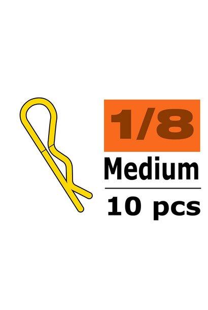 Revtec - Carrosserie clipsen - 45° gebogen - Medium - Goud - 10 st