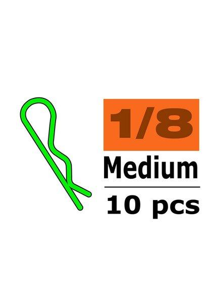 Revtec - Carrosserie clipsen - 45° gebogen - Medium - Groen - 10 st