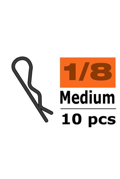 Revtec - Carrosserie clipsen - 45° gebogen - Medium - Rood - 10 st