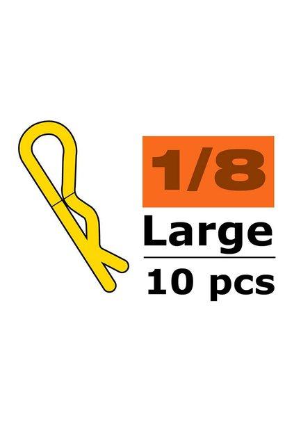 Revtec - Carrosserie clipsen - 45° gebogen - Groot - Goud - 10 st