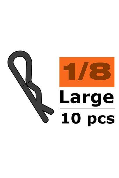 Revtec - Carrosserie clipsen - 45° gebogen - Groot - Rood - 10 st