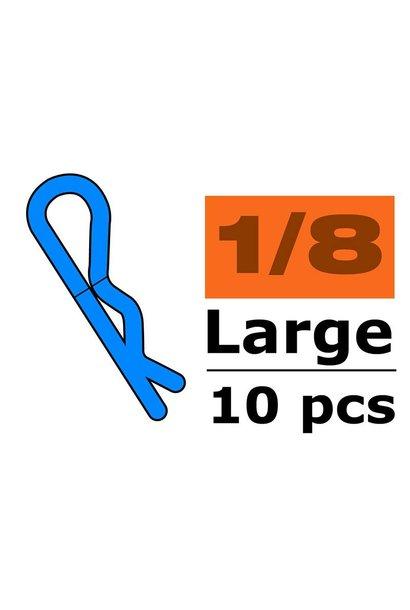 Revtec - Carrosserie clipsen - 45° gebogen - Groot - Zwart - 10 st