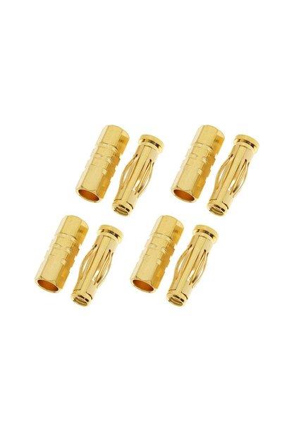 Revtec - Connector - 4.0mm - Goudcontacten - Car - Man. + Vrouw. - 4 paar