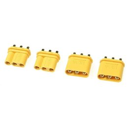 G-Force RC G-Force RC - Connector - MR-30PB 3-Polig - Goud contacten - Man. + Vrouw. - 2 paar