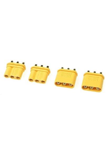 Revtec - Connector - MR-30PB 3-Polig - Goud contacten - Man. + Vrouw. - 2 paar