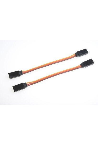 Revtec - Servo patchkabel - Universele connector vrouw. - 10 cm - 2 st