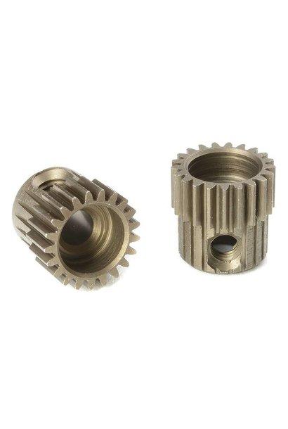 Team Corally - 64 DP Motortandwiel - Kort - Gehard staal - 21 Tanden - Motoras dia. 3.17mm