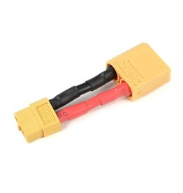 G-Force RC Revtec - Power adapterkabel - XT-60 connector vrouw.  XT-90 connector man. - 12AWG Siliconen-kabel - 1 st