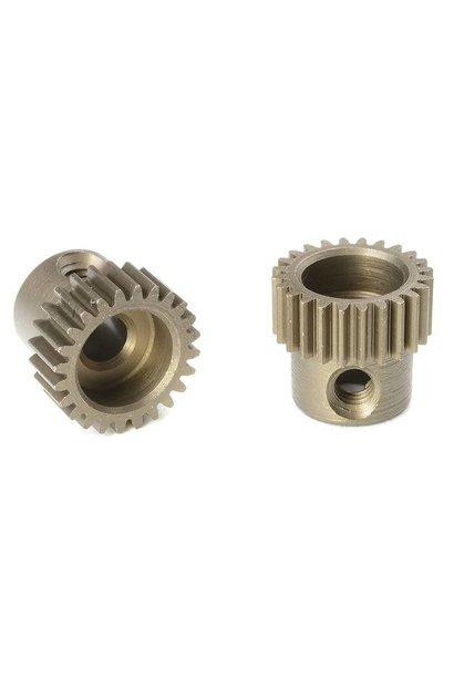 Team Corally - 64 DP Motortandwiel - Kort - Gehard staal - 24 Tanden - Motoras dia. 3.17mm