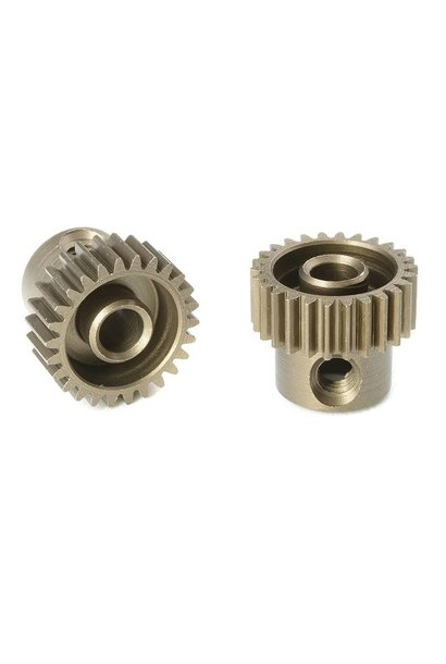 Team Corally - 64 DP Motortandwiel - Kort - Gehard staal - 26 Tanden - Motoras dia. 3.17mm
