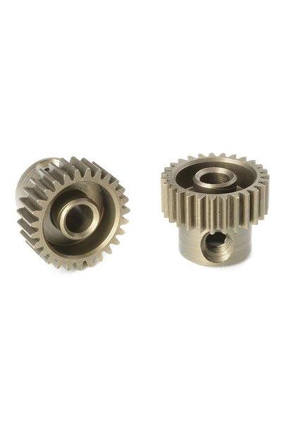 Team Corally - 64 DP Motortandwiel - Kort - Gehard staal - 27 Tanden - Motoras dia. 3.17mm