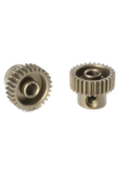 Team Corally - 64 DP Motortandwiel - Kort - Gehard staal - 28 Tanden - Motoras dia. 3.17mm