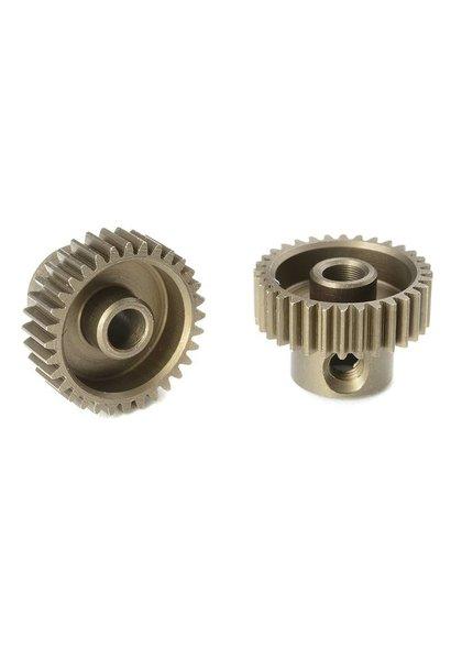 Team Corally - 64 DP Motortandwiel - Kort - Gehard staal - 32 Tanden - Motoras dia. 3.17mm
