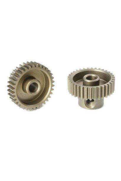 Team Corally - 64 DP Motortandwiel - Kort - Gehard staal - 34 Tanden - Motoras dia. 3.17mm