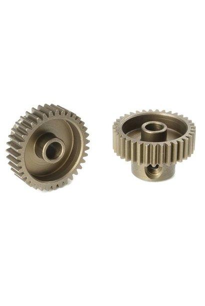 Team Corally - 64 DP Motortandwiel - Kort - Gehard staal - 35 Tanden - Motoras dia. 3.17mm