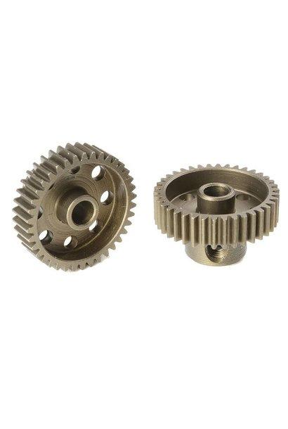 Team Corally - 64 DP Motortandwiel - Kort - Gehard staal - 38 Tanden - Motoras dia. 3.17mm
