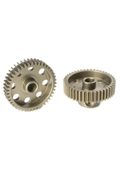 Team Corally - 64 DP Motortandwiel - Kort - Gehard staal - 44 Tanden - Motoras dia. 3.17mm