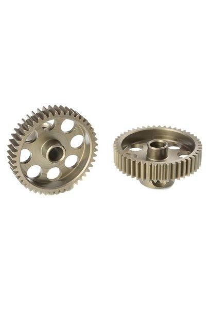 Team Corally - 64 DP Motortandwiel - Kort - Gehard staal - 46 Tanden - Motoras dia. 3.17mm
