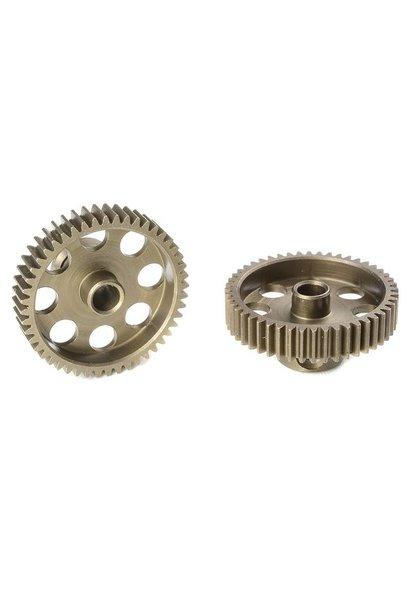 Team Corally - 64 DP Motortandwiel - Kort - Gehard staal - 48 Tanden - Motoras dia. 3.17mm