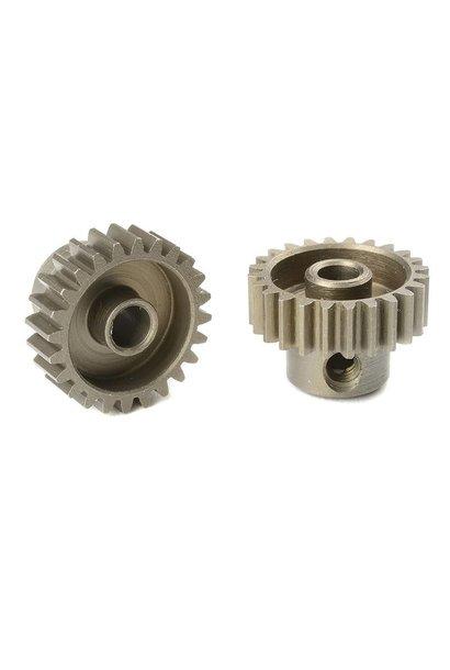 Team Corally - 48 DP Motortandwiel - Kort - Gehard staal - 24 Tanden - Motoras dia. 3.17mm