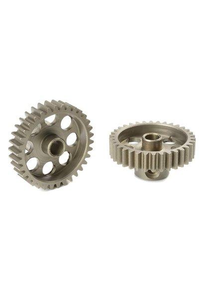 Team Corally - 48 DP Motortandwiel - Kort - Gehard staal - 34 Tanden - Motoras dia. 3.17mm